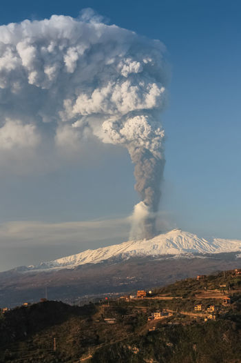 Mountain Erupting Environment Smoke - Physical Structure Geology Sky Volcano Landscape Scenics - Nature Power In Nature Beauty In Nature Power Active Volcano Cloud - Sky Nature Emitting Non-urban Scene Land Physical Geography No People Outdoors Pollution Mountain Peak Volcanic Crater Air Pollution
