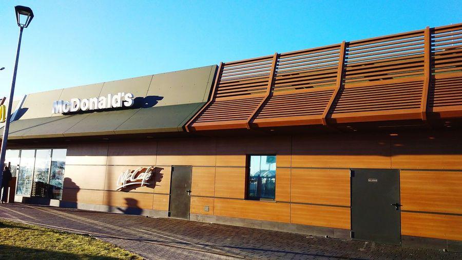 #Mcdonalds Clear Sky Architecture Sky Building Exterior Built Structure Bar - Drink Establishment Bar Counter Happy Hour Pub