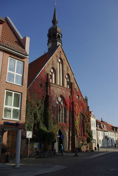 Old Church in Stralsund Architecture Blue Brickstone Building Building Exterior Built Structure Church Day Exterior Façade Hanseatic No People Outdoors Residential Structure Sky The Way Forward Town TOWNSCAPE