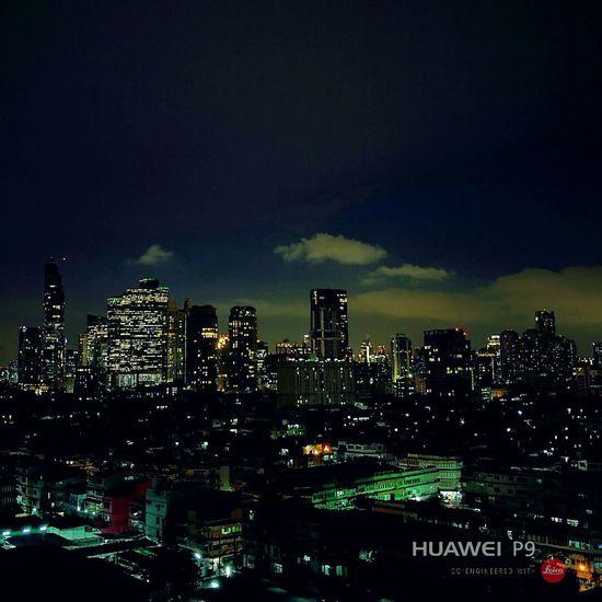 Night cloud. Night Cityscape City Bankgkok Downtown District