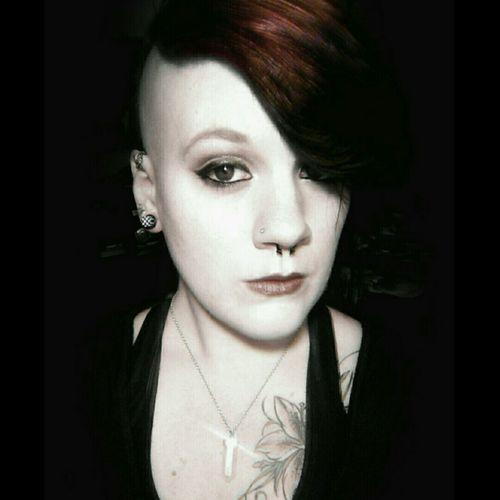 Shine. Crystal Red Hair Tattoos Piercings