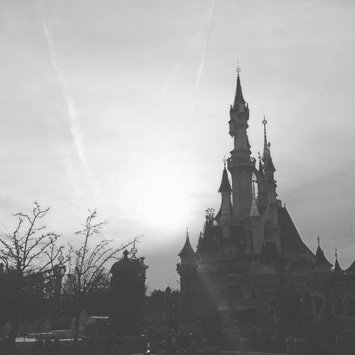 Where magic lives.✨ Disney Disneyland Paris Enjoying Life Castle Travel The World Bucketlist Hello World Travel Photography Wanderlust France Winter Travelling Europe Paris Black And White