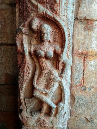 Nritya and Shringar Stone Sculpture Statue Rock Old Ancient Temple Architecture Indian Culture  Indian Temples Indian Sculpture Dancer Decoration Attractive Pose Temple Entrance Cultures India Humpi Close-up Ancient Civilization Archaeology Temple Old Ruin Female Likeness Aged Human Representation Carving - Craft Product ArtWork Carving