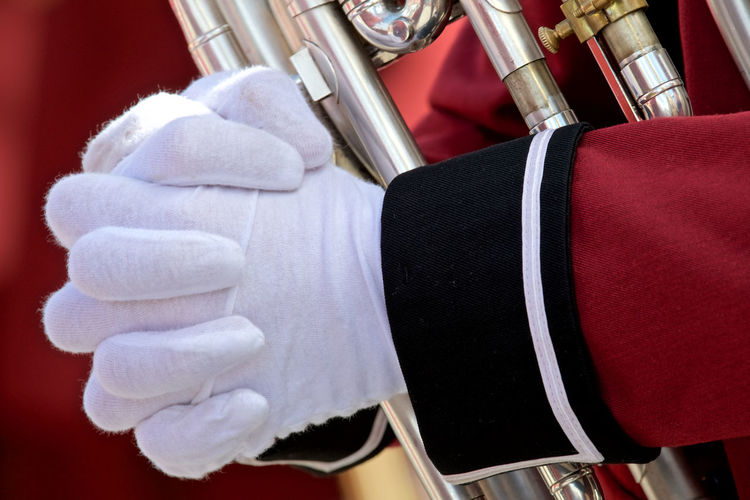 In Norway Close-up Cotton Glows Day Folding Hands Human Body Part Human Hand In Norway. Musician Outdoors People Uniform