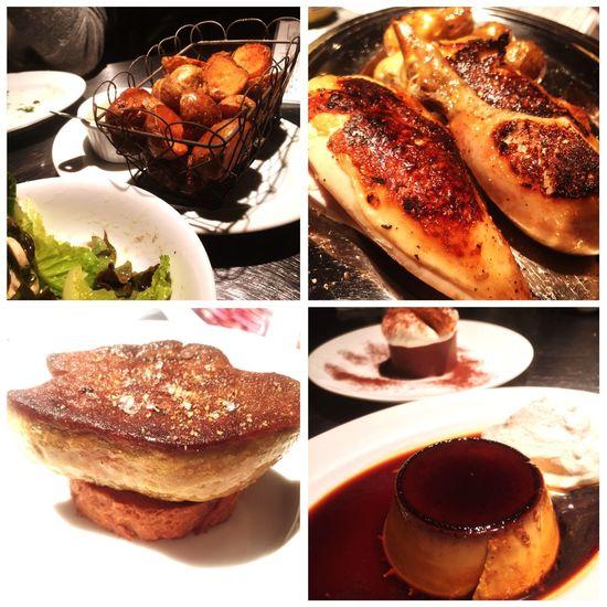今日はひな鳥を食べに。どの料理も美味しくて、大満足。^^ Food Dinner Rotisserie Rotisseriechickin