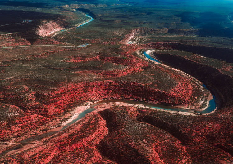 Image of z bend at kalbarri national park in western australia.