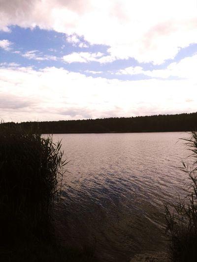 Cloud - Sky Water Lake Beauty In Nature No People Starachowice