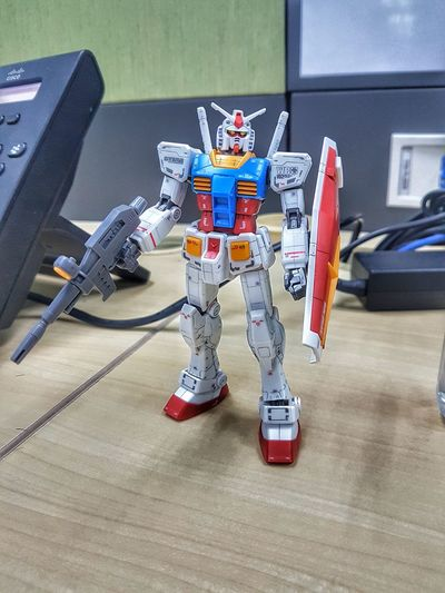 RX 78-2 Gundam Full Length Indoors  Headwear No People Day Toy Boy Robot Gundamcollection Gundam Model Gundam Build Fighter