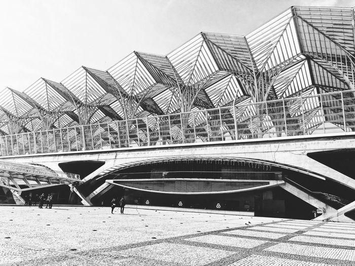 Calatrava designed railway station, new part of Lisbon - Portugal