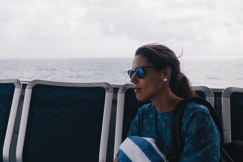 Ocean Wife Woman Portrait Blue Sky