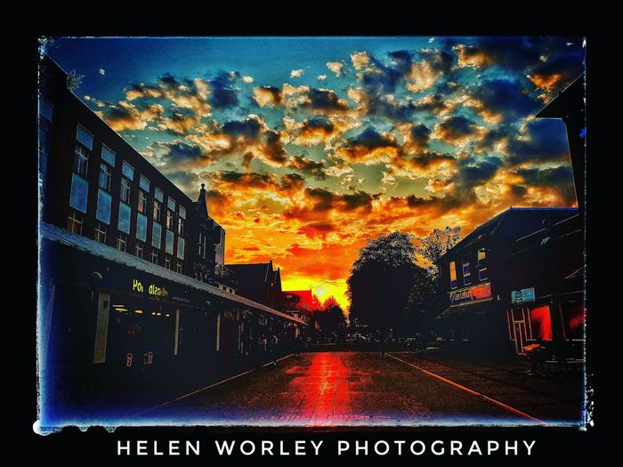 small town sunset. Sunset Dusk Twilight #photography Clouds Railway Town Defocused Silhouette Tree EyeEmNewHere