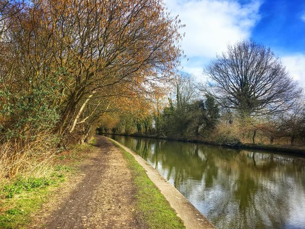 The canal in he last days of winter No People Grand Union Canal Canal Towpath Canal Tree Tranquil Scene Nature Outdoors Tranquility Beauty In Nature Sky