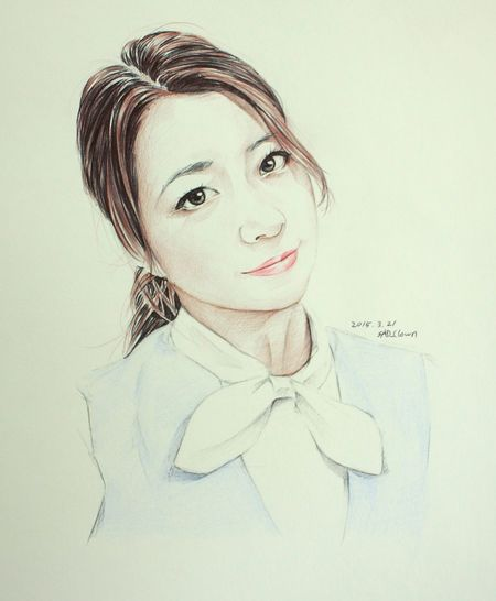 北条麻妃 Drawing Paint Painting Ballpoint Esedy