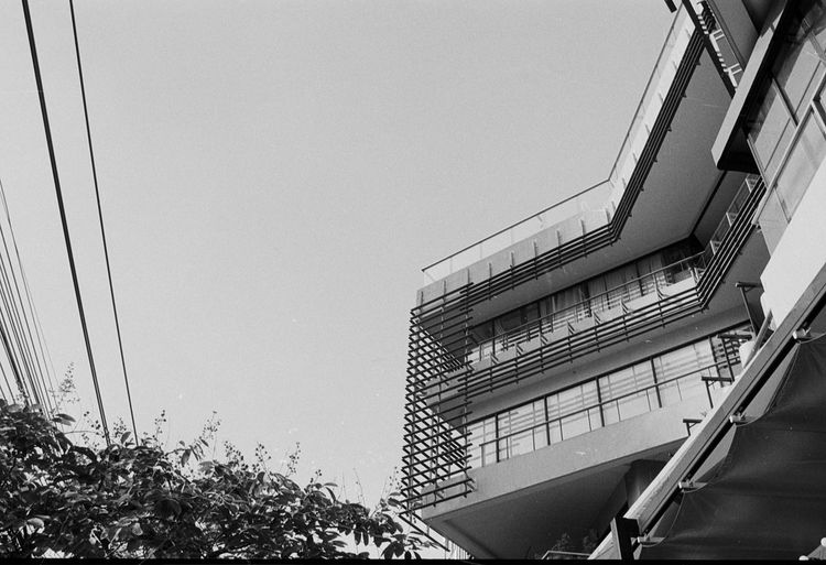 Architecture Blackandwhite Building Exterior Built Structure Film Ilford Low Angle View