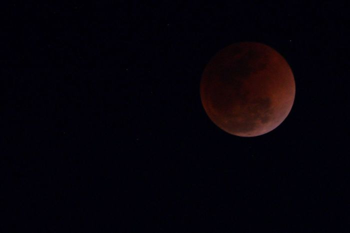 Super blood moon 🌙 2018 PhotoNepal Blue Moon Lunar Eclipse Super Moon Moon Night Astronomy Beauty In Nature Moon Surface Full Moon Circle Tranquil Scene Low Angle View Tranquility Sky Clear Sky Outdoors Nature