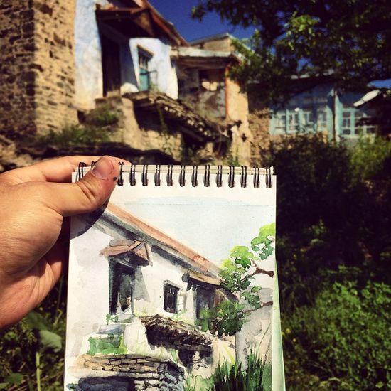 Art Enjoying Life Drawing Watercolor