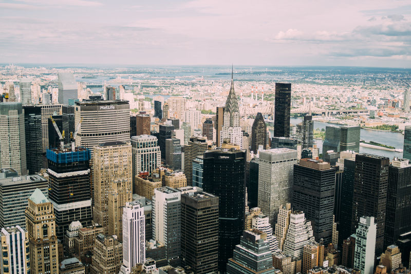 City Cityscape Architecture Skyscraper Tower Tall - High Aerial New York Built Structure Urban Skyline Outdoors Modern