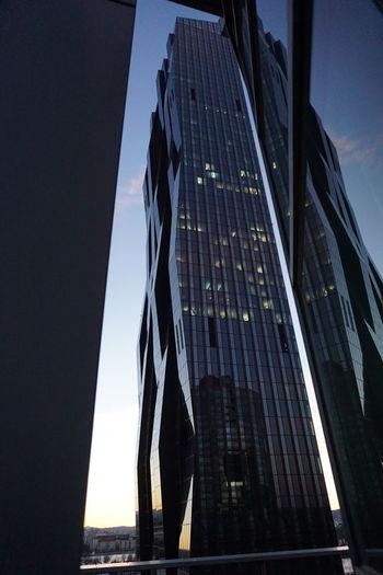 Architecture DC Tower Reflection Vienna Wien
