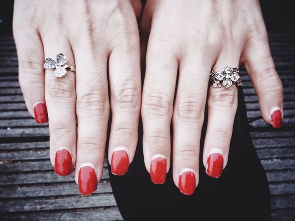 Hands, Nails and Jewelry Hands Jewelry Ring Rings Nails Nailpolish Red Female