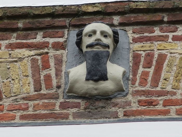 Blackbeard Moustache Stone Tablet Architecture Black Beard Brick Wall Building Exterior Close-up Day No People Outdoors Plaque Wall - Building Feature