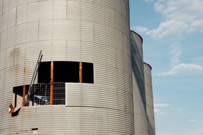 Abandoned Places Elevator Farm Abandoned Architecture Bankrupt Bankruptcy Bin Broken Building Exterior Built Structure Day Hole Low Angle View Modern No People Outdoors Reservoir Silo Sky Tank Urbex Window