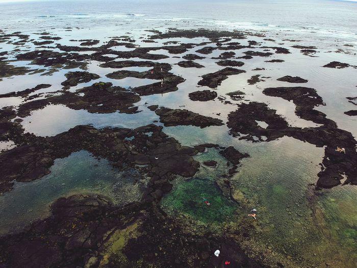 Kahopo Tidepools DJI X Eyeem Dji Spark Big Island Backgrounds Full Frame Sea Water Pattern Abstract