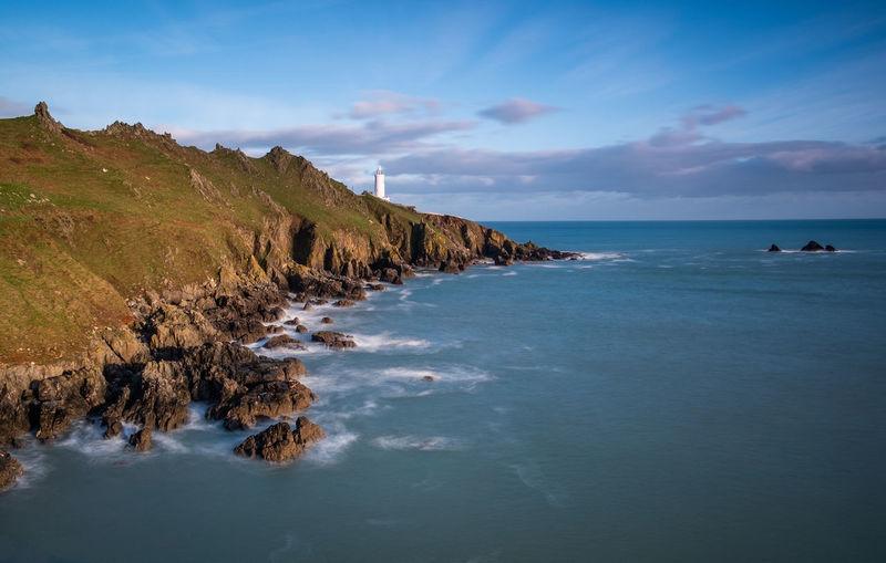 Start point lighthouse on the south devon coast