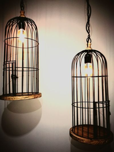 Light And Shadow Lights Goodidea Idea Old And New Cast Iron Trapped Hanging Cage Birdcage Metal Close-up