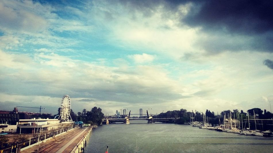 Rio Guadalquivir River View Mobile Photography Cities_collection Clouds And Sky Landscapes Sevilla River Collection Bridgesaroundtheworld Sky_collection Guadalquivir MomentsToRemember