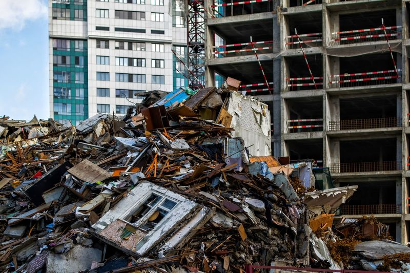Building Exterior Built Structure Architecture Day City No People Building Nature Office Residential District Heap Construction Industry Construction Site Sunlight Office Building Exterior Large Group Of Objects Stack Outdoors Abundance Metal