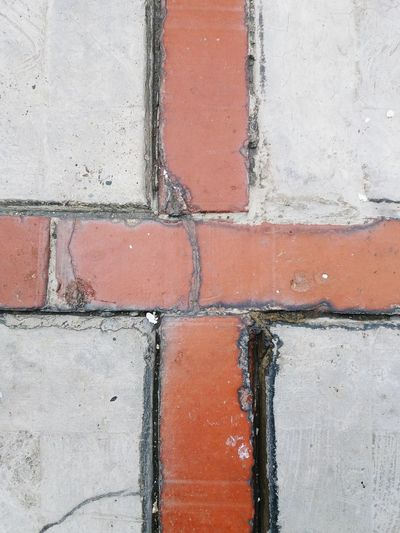 Backgrounds Full Frame Close-up Textured  Day No People Paint Architecture Outdoors Multi Colored EyeEm Selects EyeEmNewHere Brick Brick And Concrete Pattern Floor Patterns Floor Cross Shape Cross