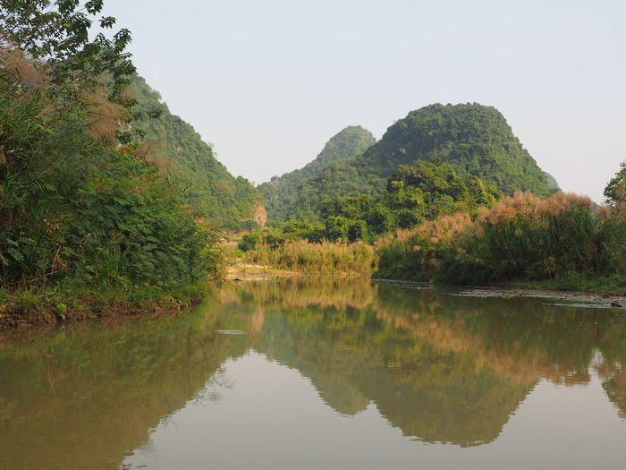 'The inland Ha Long Bay' Tam Coc Water Beauty In Nature Tree Scenics - Nature Tranquility Mountain Nature Reflection Non-urban Scene No People EyeEm Nature Lover Clear Sky Idyllic River