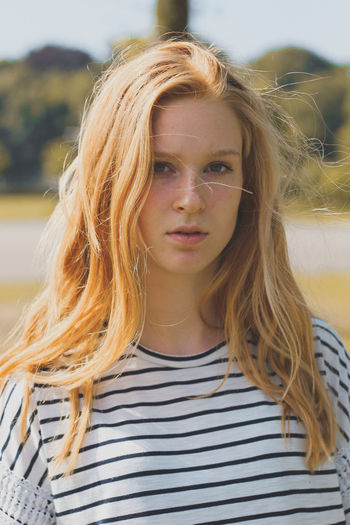 Portrait Front View One Person Young Adult Striped Long Hair People Headshot Only Women Young Women One Young Woman Only Looking At Camera Summer Human Body Part Beautiful Woman Outdoors Beauty Leisure Activity One Woman Only Adult The Portraitist - 2017 EyeEm Awards