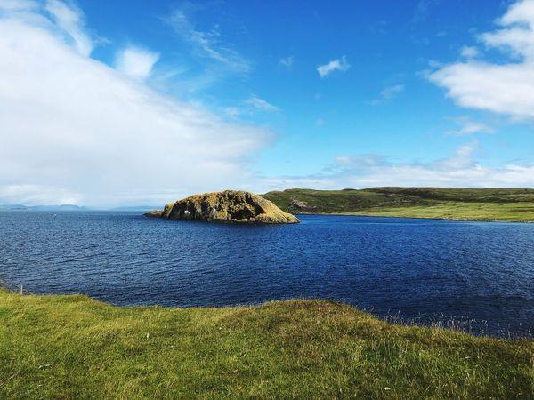 Scotland Water Sky Cloud - Sky Scenics - Nature Beauty In Nature Tranquil Scene Nature Tranquility Sea Plant No People Day Blue Land Sunlight Idyllic Non-urban Scene Outdoors Growth