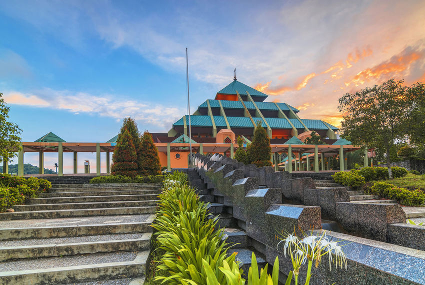 Mosque Batam City Mosque Arsitektur Sunset_collection Mosque Architecture Built Structure Building Exterior Building Story Landscape_Collection Lanscape Photography Batam Batam Island, Indonesia.
