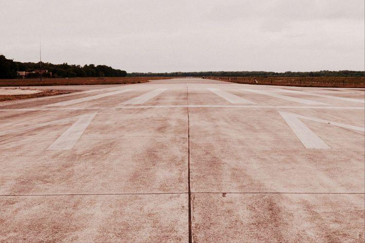 View of runway against sky