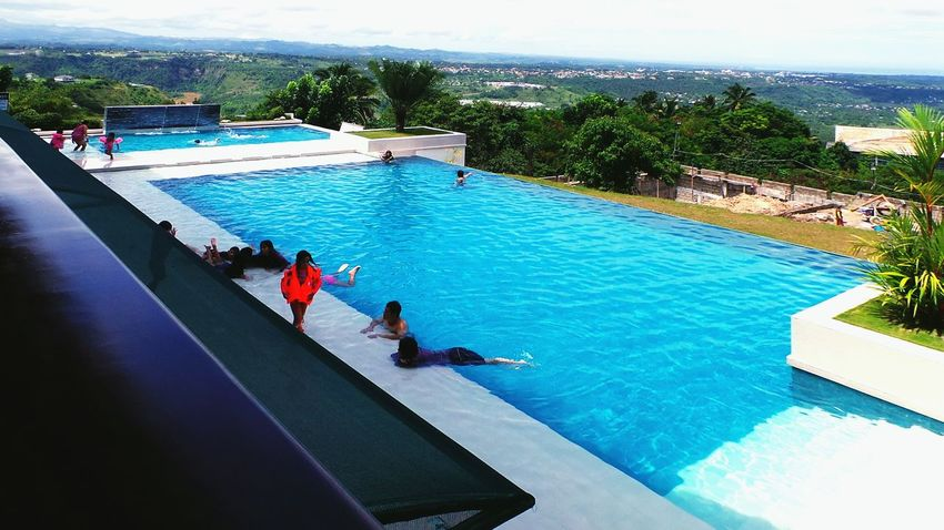 Swimming Pool High Angle View Water Leisure Activity Vacations