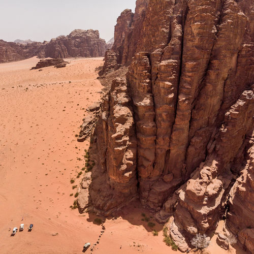 View Of Rock Formations In Desert