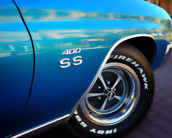 400SS Badge Blue Chevrolet Chevy Close-up Focus On Foreground Mode Of Transport No People Ss