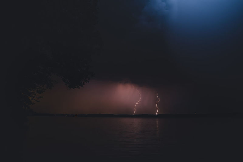Beauty In Nature Cloud - Sky Lightning Nature Night No People Power Power In Nature Reflection Scenics - Nature Sea Sky Storm Thunderstorm Tranquility Water Waterfront The Week On EyeEm Editor's Picks