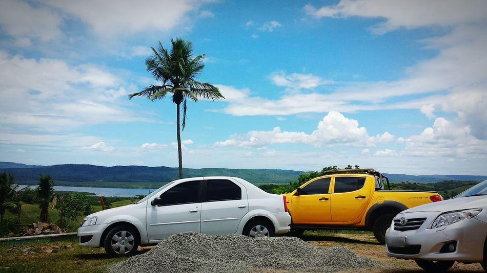 First Eyeem Photo Blue Sky Car CeuAzul Mar Belavista Coqueiro Maragojipe