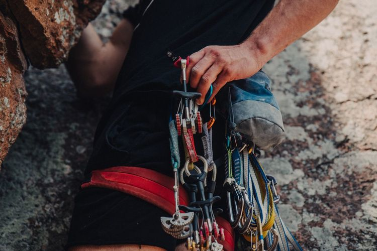 Climb some Climb Rock Climbing One Person Adult Holding Midsection Outdoors Leisure Activity The Great Outdoors - 2018 EyeEm Awards Day Adventure Climbing Sport Real People Lifestyles Nature