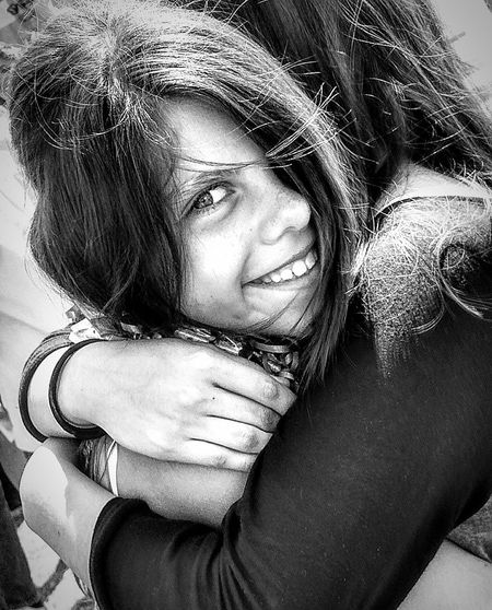 She thought her older sister didnt like when this happened. Poweroflove Blankandwhiteportrait Children Photography Faces Of Summer CHILDS SMILE Sisterlove Innocent Face Innocenceofachild Cell Phone Photography