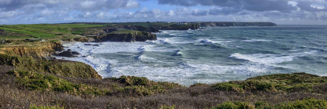 Cornish Coastline Beach Beauty In Nature Coastal Landscape Coastal Path Cornwall Uk Day Nature No People Outdoors Seascape Sky Uk