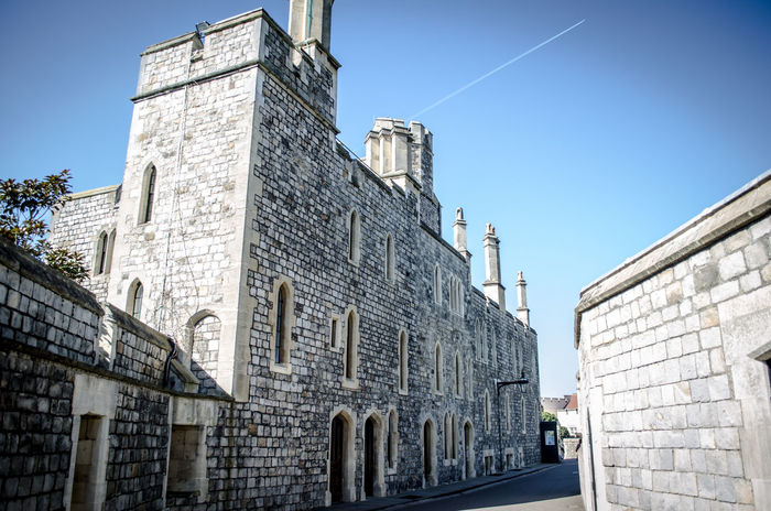 King of my castle Architecture Battlement Blue Sky Building Exterior Castle Castle Walls Day History Low Angle View No People Outdoors Patriotic Royalty Safety Security Sky Tower Windsor Windsor Castle