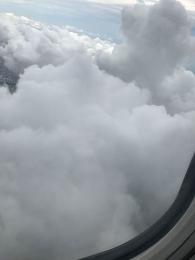 Cloud - Sky Sky Cloudscape Nature Day Airplane Airplane Wing