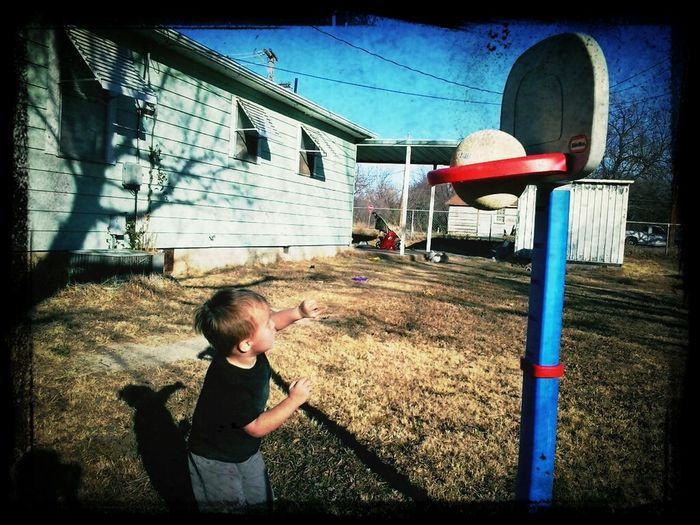 my baby is gonna play for the OKC Thunder when he grows up!! he loves playing basketball!!!