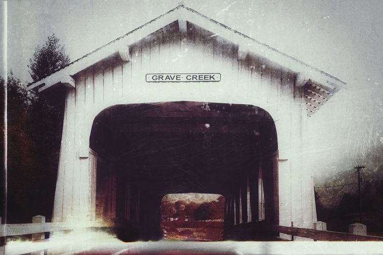 Grave Creek Covered Bridge Somewhere in Oregon No People Bridge Covered Bridge Grave Creek Building Structure Built Structure Outdoors Effects And Filters White Building Old Old Building  Exterior Old-fashioned Looks Old Old Effects Architecture Experimental EyeEm Ready   EyeEm Best Shots EyeEm Best Edits In The Middle Of Nowhere