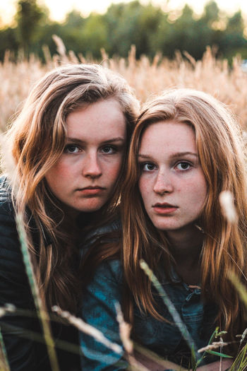 Portrait Two People Looking At Camera Adult People Friendship Long Hair Togetherness Adults Only Women Outdoors Young Adult Human Body Part Headshot Day Only Women Young Women Beautiful Woman Bonding Blond Hair EyeEm Selects Sommergefühle