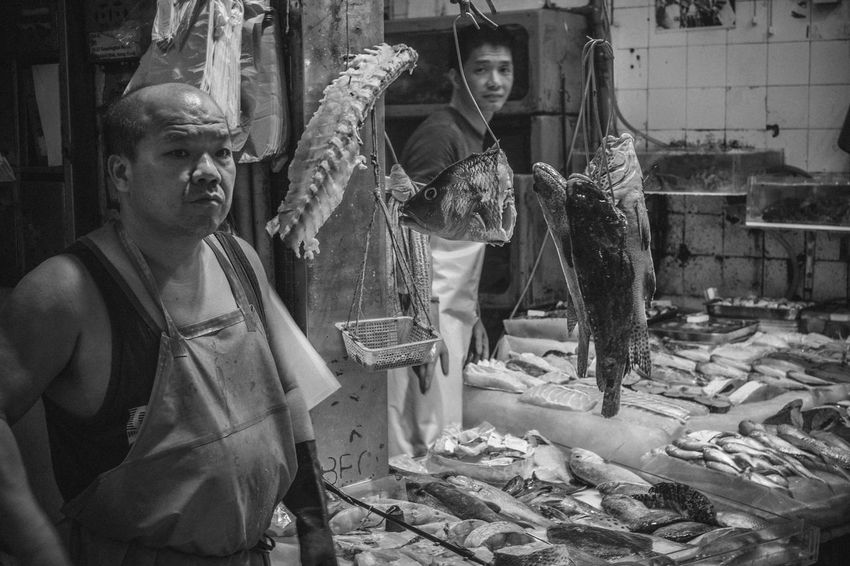 Hong Kong Travel Travel Photography Butcher Day Fish Monger Food Indoors  Market One Person People Real People Retail